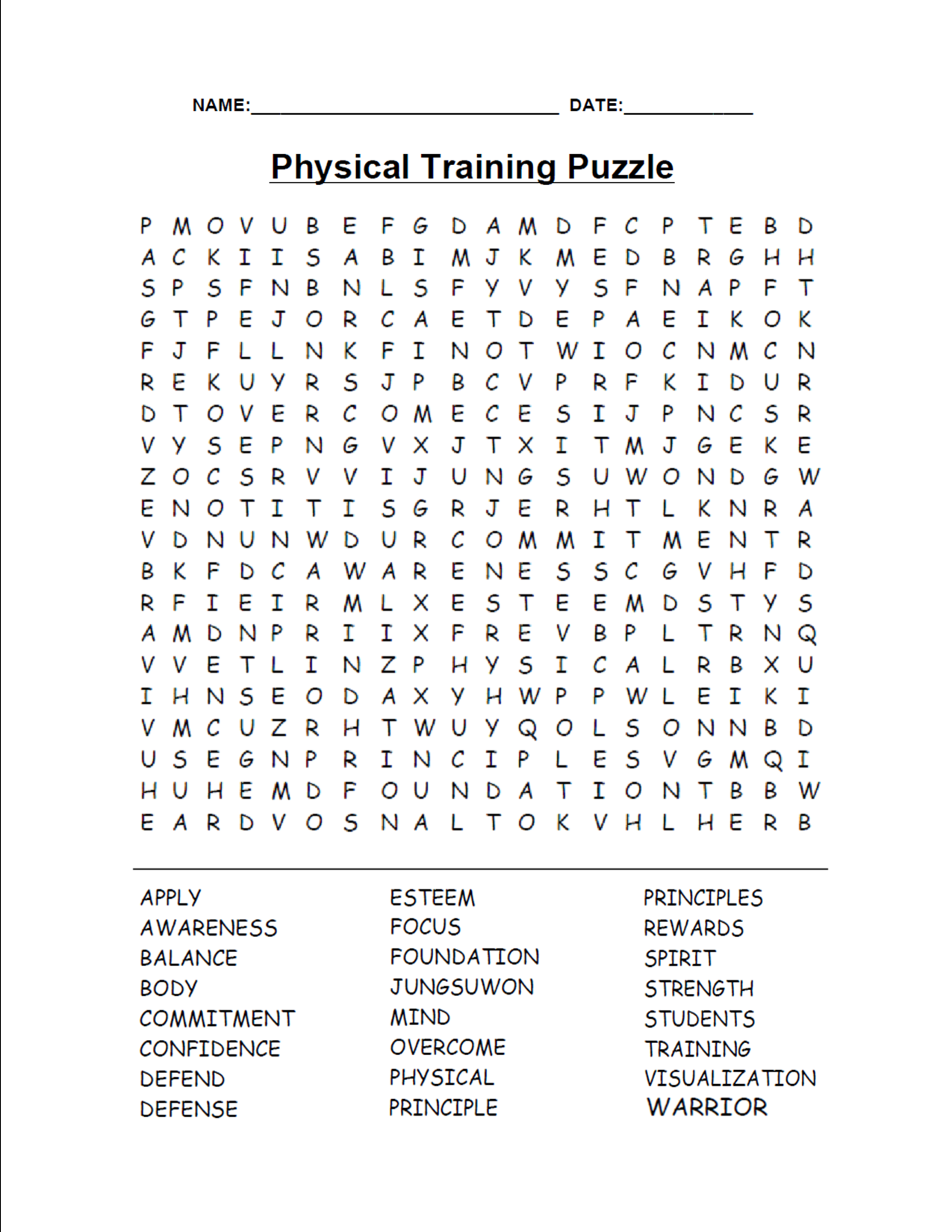 Native American Word Search Puzzles