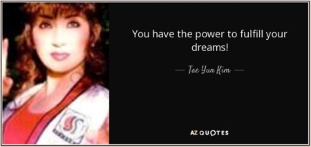 You have power to fulfill dreams